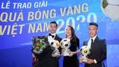 Văn Quyết, Huỳnh Như và Minh Trí đoạt Quả bóng Vàng Việt Nam 2020