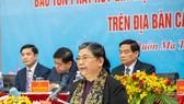 Phó Chủ tịch Thường trực Quốc hội Tòng Thị Phóng phát biểu tại Hội thảo. Ảnh: Baodantoc.vn