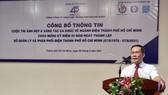 Ông Bùi Trung Kiên, Phó Tổng Giám đốc EVNHCMC phát biểu tại buổi cung cấp thông tin về cuộc thi ảnh đẹp và sáng tác ca khúc về ngành điện TPHCM