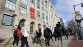Sinh viên tại Trường ĐH Khoa học và Nghệ thuật Boston (Mỹ). Ảnh: AP