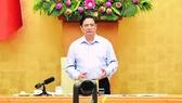 Thủ tướng Phạm Minh Chính phát biểu kết luận hội nghị. Ảnh: VOV