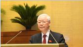 Tổng Bí thư Nguyễn Phú Trọng phát biểu tại phiên khai mạc kỳ họp thứ nhất, Quốc hội khóa XV. Ảnh: QUANG PHÚC