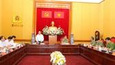 Đồng chí Nguyễn Trọng Nghĩa phát biểu chỉ đạo tại buổi làm việc. Ảnh: CAND