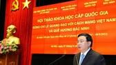 Đồng chí Nguyễn Xuân Thắng phát biểu tại hội thảo. Ảnh: TTXVN