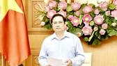 Thủ tướng Phạm Minh Chính phát biểu tại buổi làm việc giữa Thường trực Chính phủ với tập thể lãnh đạo Ban Dân vận Trung ương. Ảnh: VIẾT CHUNG