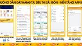 Người dân trên địa bàn quận 10 có thể đặt mua hàng tại Satramart – Siêu thị Sài Gòn qua ứng dụng di động