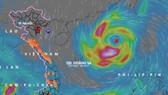 Chiều 12-10, bão số 8 vẫn di chuyển nhanh theo hướng Tây, giật cấp 13