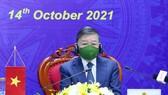 Đại tướng Tô Lâm, Bộ trưởng Bộ Công an, Trưởng đoàn Việt Nam phát biểu tại Hội nghị AMMD 7. Ảnh: VGP