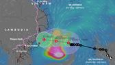 Tối 26-10, áp thấp nhiệt đới trên vùng biển Khánh Hòa-Bình Thuận