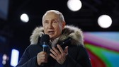 President Vladimir Putin addresses the crowd during a rally and a concert celebrating the fourth anniversary of Russia's annexation of Crimea at Manezhnaya Square in Moscow on March 18, 2018. — AFP/VNA