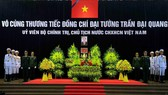 The respect-paying ceremony for President Tran Dai Quang starts at 7am on September 26 at the National Funeral Hall at No. 5, Tran Thanh Tong Street, Hanoi (Photo: VNA)