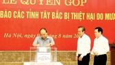 Thủ tướng Nguyễn Xuân Phúc, Phó Thủ tướng Thường trực Trương Hòa Bình, Phó Thủ tướng Vương Đình Huệ ủng hộ đồng bào các tỉnh Tây Bắc bị thiệt hại do mưa lũ