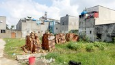 Một khu đất tách thửa, phân lô bán nền ở huyện Bình Chánh bị ách lại, chờ chủ trương mới của TPHCM