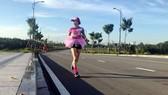 Tăng Nguyệt Minh có niềm đam mê đặc biệt đối với bộ môn chạy bộ. Ảnh: NVCC