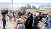 Người dân Syria lũ lượt di tản khỏi khu vực Đông Ghouta