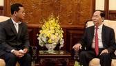 Chủ tịch nước Trần Đại Quang tiếp Thứ trưởng Bộ An ninh Lào
