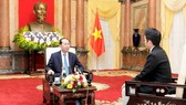 Chủ tịch nước Trần Đại Quang trả lời phỏng vấn truyền thông Nhật Bản