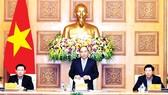 Thủ tướng Nguyễn Xuân Phúc phát biểu tại buổi làm việc. Ảnh: TTXVN