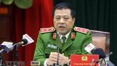 Trung tướng Phạm Văn Các, Cục trưởng Cục Cảnh sát điều tra tội phạm về ma túy thông tin cho phóng viên báo chí. Ảnh: Doãn Tấn/TTXVN