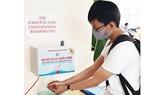 Máy rửa tay sát khuẩn tự động phun sương do thầy trò Trường Đại học Quy Nhơn chế tạo