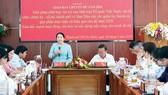 Phó Bí thư Thành ủy TPHCM Võ Thị Dung phát biểu tại hội nghị