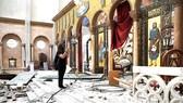 Một nhà thờ cổ ở Beirut bị hư hại sau vụ nổ