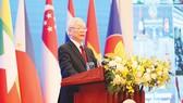 Tổng Bí thư, Chủ tịch nước Nguyễn Phú Trọng phát biểu chào mừng hội nghị