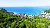 Làng biển Cù Lao Xanh được che chắn bởi một khu rừng lá thấp trước Biển Đông. Ảnh: NGUYỄN DŨNG
