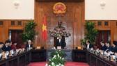Thủ tướng Nguyễn Xuân Phúc làm việc với lãnh đạo chủ chốt tỉnh Bình Phước. Ảnh: VGP