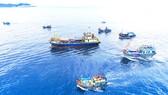 Đoàn tàu cá của Bình Định vươn khơi đón lộc biển đầu năm. Ảnh: NGUYỄN DŨNG