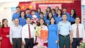 Học sinh Nguyễn Ngọc Tường, Trường THPT Hàn Thuyên (quận Phú Nhuận), trong ngày đứng vào hàng ngũ của Đảng