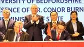 Lễ ký kết liên kết đào tạo chương trình du học tại chỗ giữa Đại học Quốc tế Hồng Bàng (HIU) và Đại học Bedfordshire (Anh)