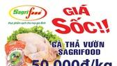 Thịt gà thả vườn Sagrifood 50.000đ/kg