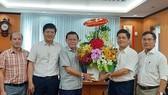 Ông Võ Quang Lâm, Phó Tổng Giám đốc Tập đoàn Điện lực Việt Nam thăm, chúc mừng Báo SGGP nhân dịp kỷ niệm 95 năm Ngày Báo chí Cách mạng Việt Nam