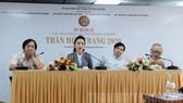 Ban Tổ chức thông tin tại buổi họp báo. Ảnh: hcmcpv.org.vn