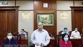 Ủy viên Bộ Chính trị, Thủ tướng Chính phủ Nguyễn Xuân Phúc phát biểu tại cuộc làm việc với Ban Thường vụ Tỉnh ủy Bà Rịa - Vũng Tàu. Ảnh: TTXVN