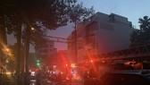 Cháy nhà kho trong hẻm ở trung tâm TPHCM
