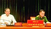 Đồng chí Trần Lưu Quang tham dự hội nghị tại điểm cầu TPHCM. Ảnh: CAO THĂNG