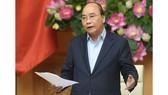 Thủ tướng Nguyễn Xuân Phúc chủ trì cuộc họp Thường trực Chính phủ về các dự án chậm tiến độ, kém hiệu quả của ngành công thương. Ảnh: VGP