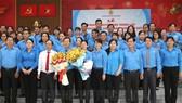 Ban Chấp hành Liên đoàn Lao động TP Thủ Đức ra mắt tại lễ công bố. Ảnh: hcmcpv.org.vn
