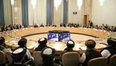 Hội nghị về tiến trình hòa bình Afghanistan tại Moscow ngày 18-3. Ảnh: REUTERS