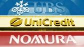 Ngân hàng bị phạt là Nomura của Nhật Bản, UBS của Thụy Sĩ và UniCredit của Italy. Ảnh: todayuknews.com