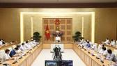 Thủ tướng Phạm Minh Chính phát biểu tại buổi gặp gỡ. Ảnh: TTXVN