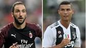 Gonzalo Higuain (AC Milan và Cristiano Ronaldo (Juventus)