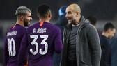 Gabriel Jesus và Aguero củng HLV Pep Guardiolas ở City