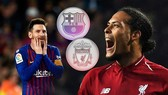 Lionel Messi (Barcelona) đối mặt Virgil Van Dijk (Liverpool)
