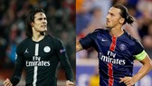 edinson Cavani và zlatan Ibrahimovic