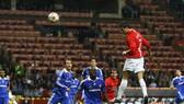 Cristiano Ronaldo bật lên đánh đầu ghi bàn trong trận chung kết Champions League 2008