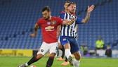 Bruno Fernandes ghi bàn vào lưới Brighton hồi tháng 6