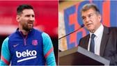 Lionel Messi và Chủ tịch Juan Laporta